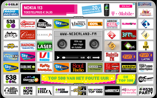 Radio streamen via Nederland.FM