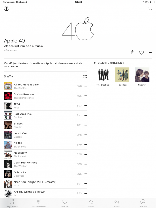 40 jaar Apple: een speciale Apple Music playlist
