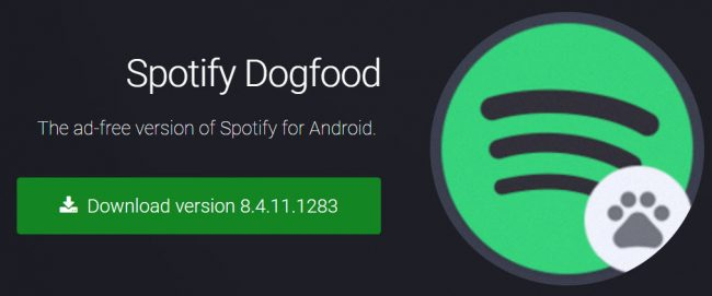 Dogfood: gratis streamen met Spotify