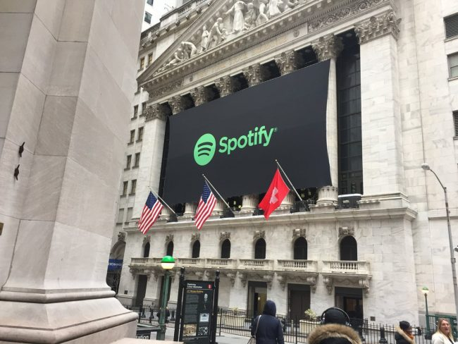 Spotify kreeg een notering op de New York Stock Exchange.